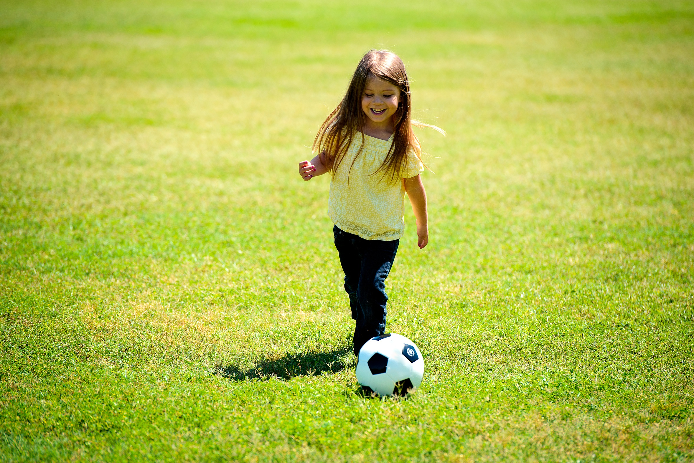 meisje voetbal